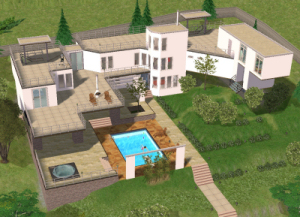 The modern home of Sim Thom and Sim Jeff