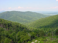 View of Appalachian Mountains from Skyline Drive - click to see larger image